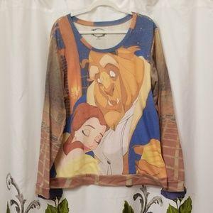Disney Beauty and the Beast sweatshirt 3X
